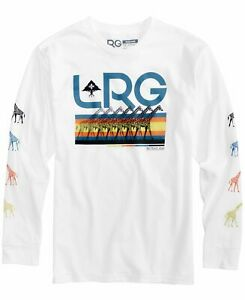 LRG-Mens-T-Shirt-White-Size-2XL-Logo-Giraffe-Graphic-Tee-Crewneck-49-728