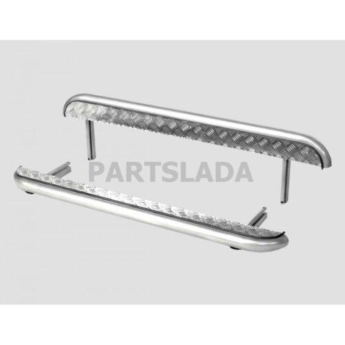 LADA NIVA 21214 RUNNING BOARDS SIDE STEP with aluminum sheet URBAN 4x4