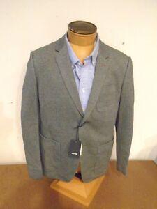Jack-Spade-Pointe-Knit-100-Cotton-2-Button-Sport-Coat-Blazer-NWT-38R-398-Gray