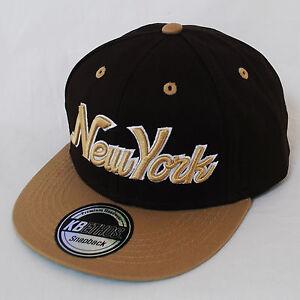 FN YOUTH  KIDS NY 3D New York Script SNAPBACK Flat Peak Cap Hat Snap Back