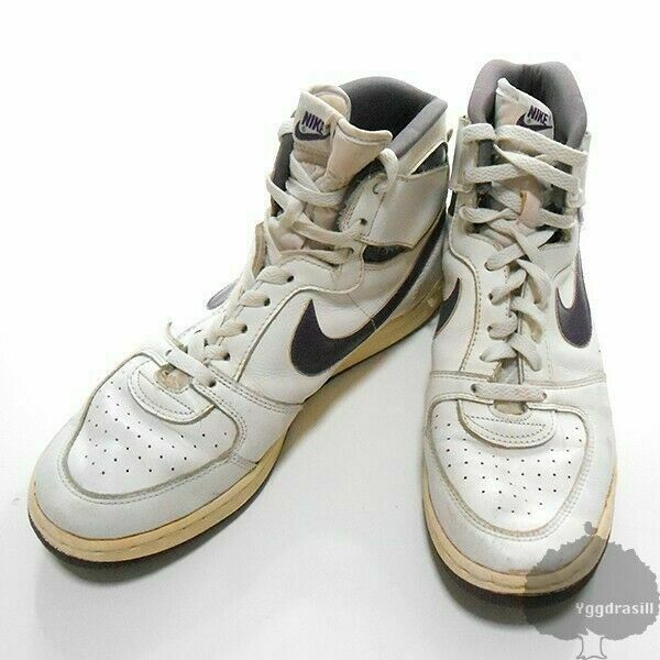 NIKE Convention High White Purple Vintage Sneakers Sports shoes US 9 1 2