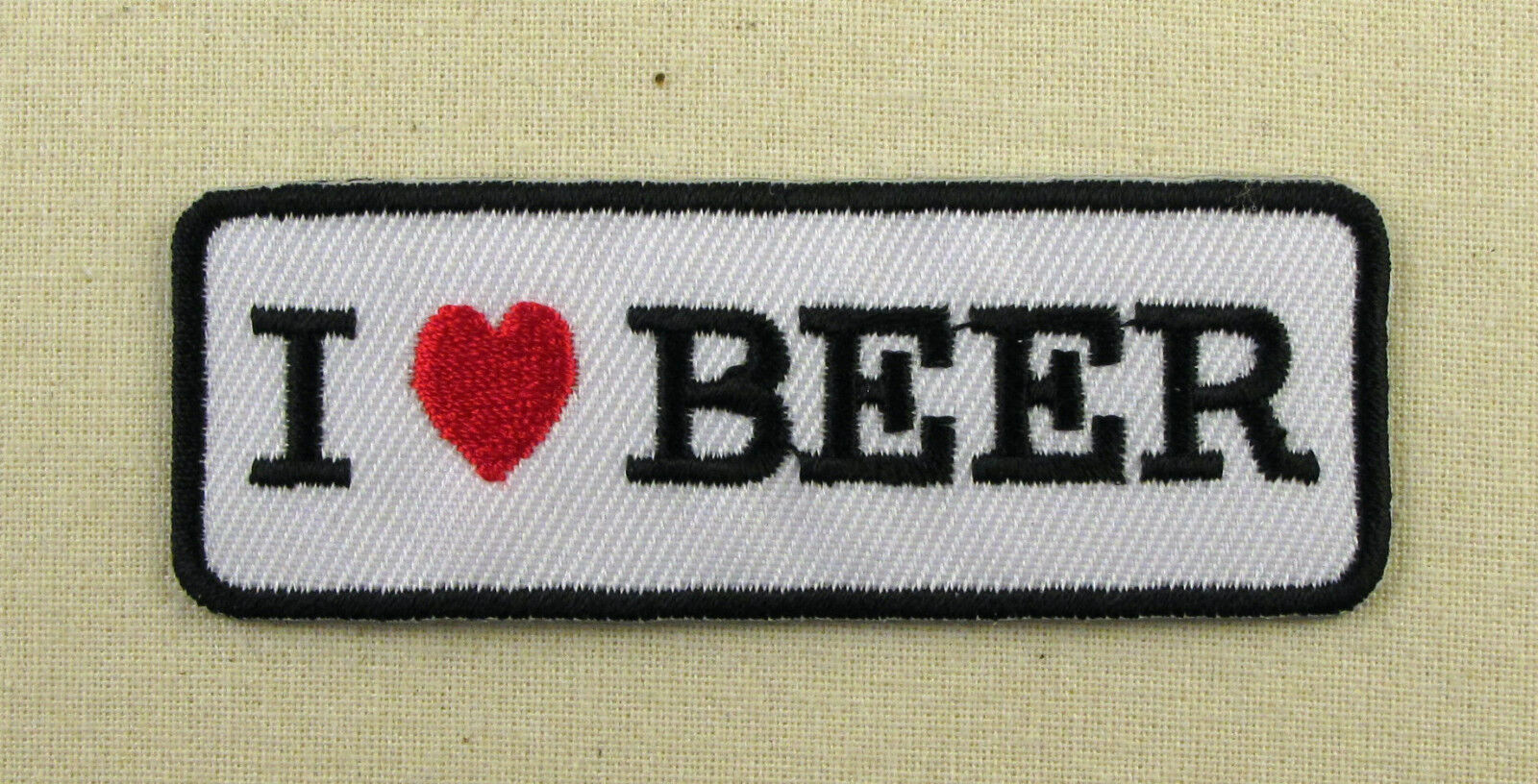` I LOVE BEER  ` Slogan Embroidered Iron On Sew On patch