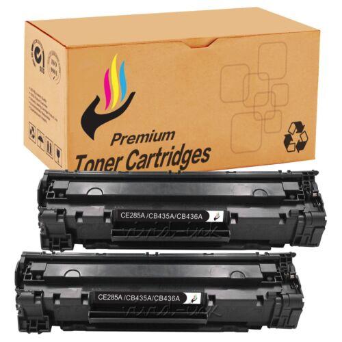 2 Pack High Yield CB435A 35A Toner Cartridge for HP LaserJet P1005 P1006 Printer
