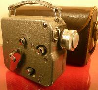 "PATHE PATHESCOPE ""H"" 1950s 9.5mm CINE MOVIE CAMERA: WITH CASE"