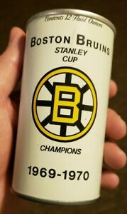 1969-70-Boston-Bruins-Stanley-Cup-Champions-Black-Label-Beer-Can-Vintage-RARE