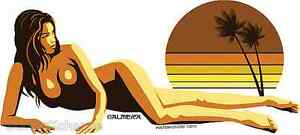 California-Sunset-Girl-Sticker-Decal-Art-Almera-MA59
