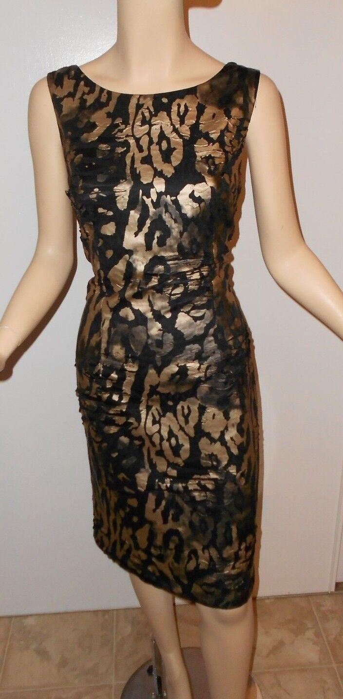 NWT Frank Lyman schwarz Gold pewter knit sheath dress 8