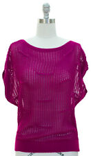 Women's Open Knit Relaxed Top size L-XL Purple  New With Tags