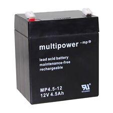 Multipower Blei Gel Akku 12V 4,5Ah Bleiakku Batterie Lead Acid Battery Accu Acku
