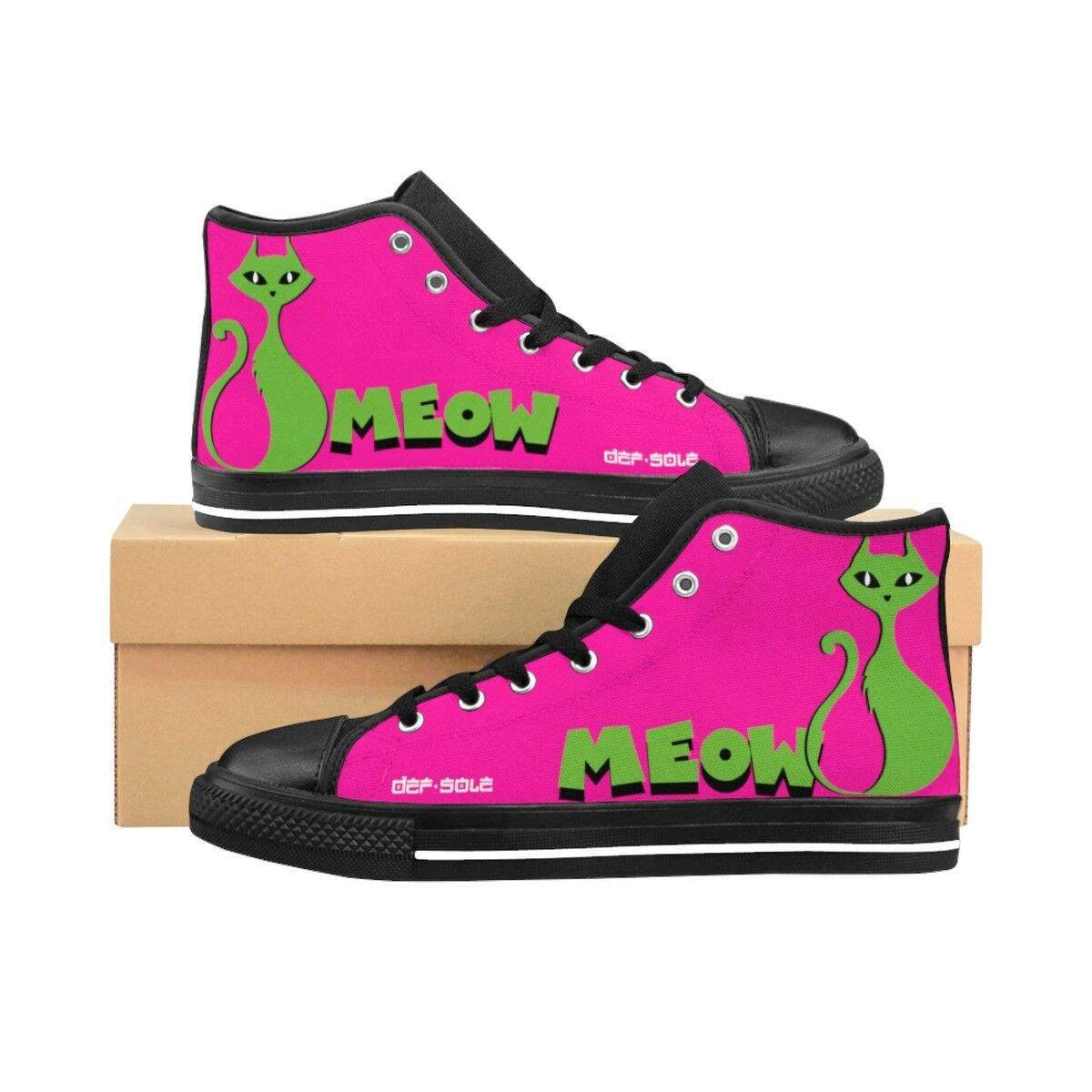 Gentleman/Lady Cat's Meow ladies High-top Sneakers Cheap cheapest cheaper