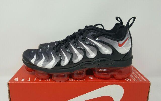 timeless design ed700 0982b Nike Air Vapormax Plus Black Speed Red White Aq8632 001 Men's Size 7.5