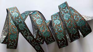image is loading jasdee vintage jacquard border trim ribbon 3 4