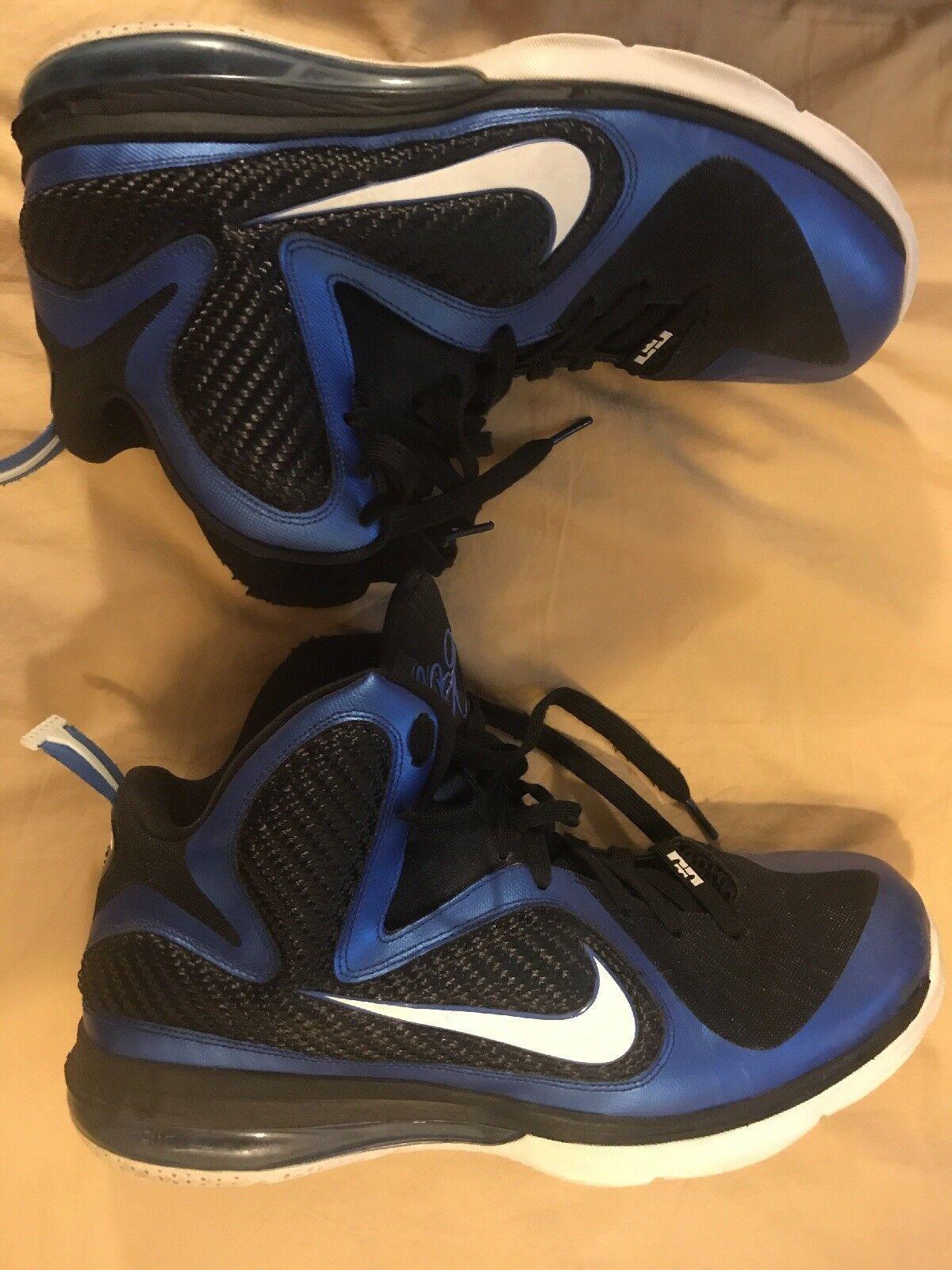 100% authentic Nike Lebron IX 9 Varsity Royal/White-Black Kentucky  Sz 13