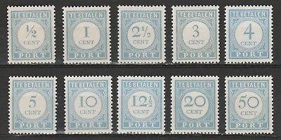 2019 Nieuwe Stijl Nvph P44-60 Port Portzegel 10 Waarden 1912-1920 Postfris Het Speeksel Verversen En Verrijken