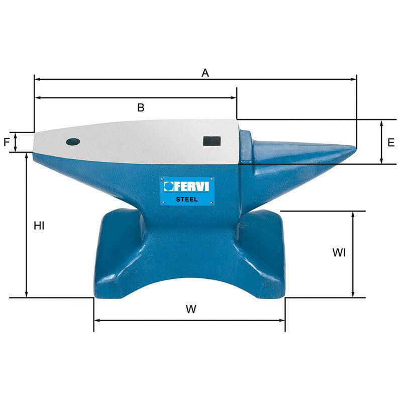 Amboss Stahl gehärtet C50 - 10 kg FERVI ART.0157/10