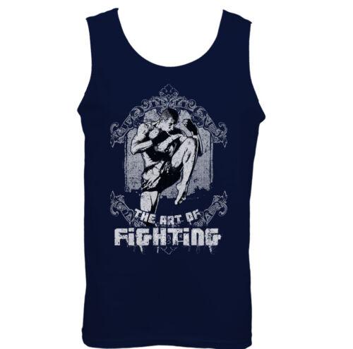 The Art Of Fighting Mens Martial Arts Vests MMA Muay Thai Kick Boxing UFC Top