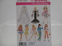 Simplicity Sewing Pattern 4719 Doll Clothes, One Size Craft Supplies