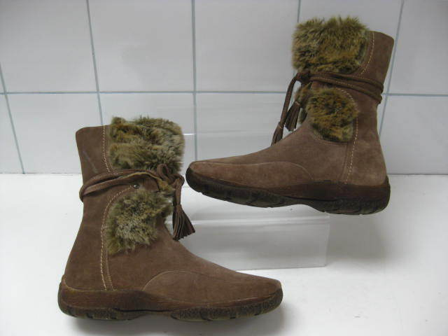 Ladies girls suede CARVELA mid calf BOOTS size   36 snow faux fur winter