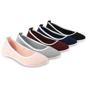 Sportliche Damen Ballerinas Freizeit Slippers Bequeme Flats Sneakers Damenschuhe