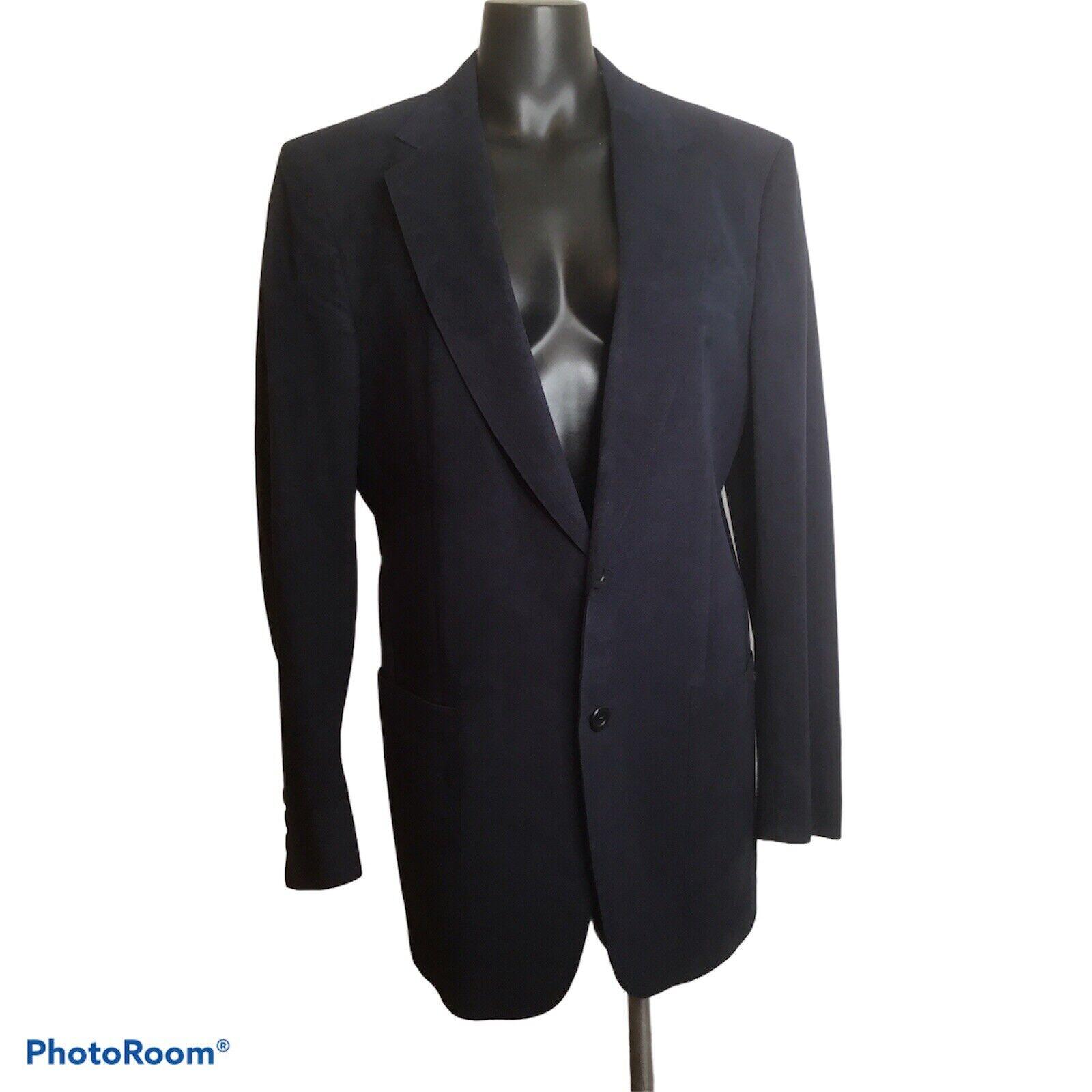 Vintage Halston Solid Blue Halsuede Leopold Price… - image 1