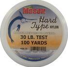 Mason Hard Type Nylon Leader Material - 30 LB 100 Yd Keeper Hsr-30