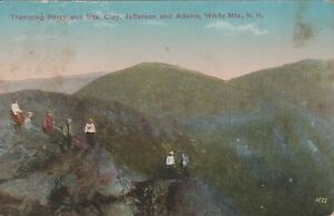 Tramping-Party-White-Mountains-New-Hampshire-Vintage-Postcard-Free-Shipping