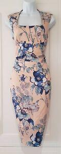 Mujeres-fase-ocho-Azul-Rosa-Floral-Vestido-de-estiramiento-reunidos-femenino-Rapunzel-8