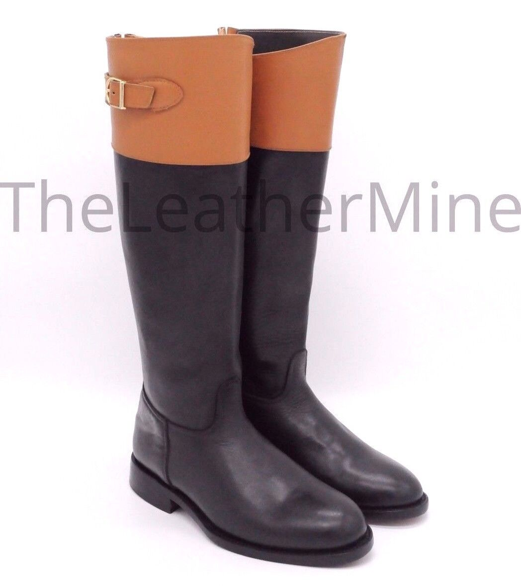 Leather Riding Stiefel Handmade Tall Riding Stiefel Riding Polo Stiefel YOU SAVE  300