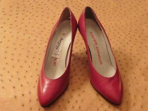 Super-Zapato-de-Tacon-Xavier-Danaud-Paris-en-Piel-Vintage-1980-Nuevo-T-35-5