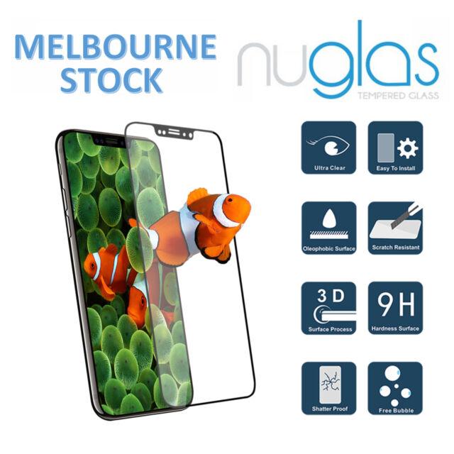 3D Nuglas PREMIUM Full Coverage Screen Protector for iPhone X 6 6S 7 8 Plus