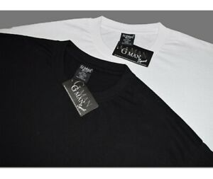 Wht /& Blk 100/% cotton CREW//V NECK Heavy Weight Tshirts from Sm to 6XL 6 Pack of