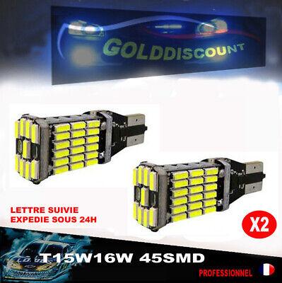 2 Ampoules T15 Led W16W 45 SMD 1000 lm //