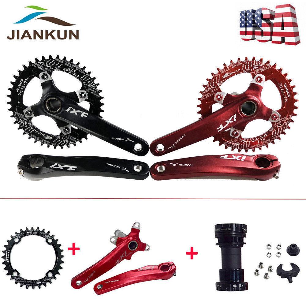 1Set MTB Bike Crankset 104bcd 170mm Crank Left & Right Arm Narrow Wide Chainring