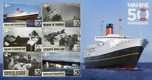 New-Zealand-NZ-2018-MNH-TEV-Wahine-50th-Anniv-6v-M-S-Boats-Ships-Stamps