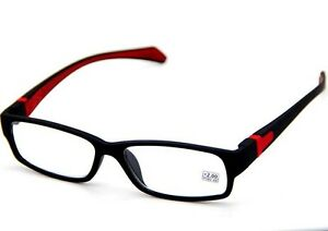 Mens Women Rubber Coated Frame Grip Reading Glasses Black ...