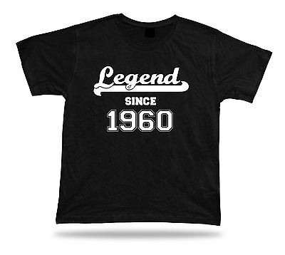 Printed T shirt tee Legend since 1956 happy birthday present gift idea unisex