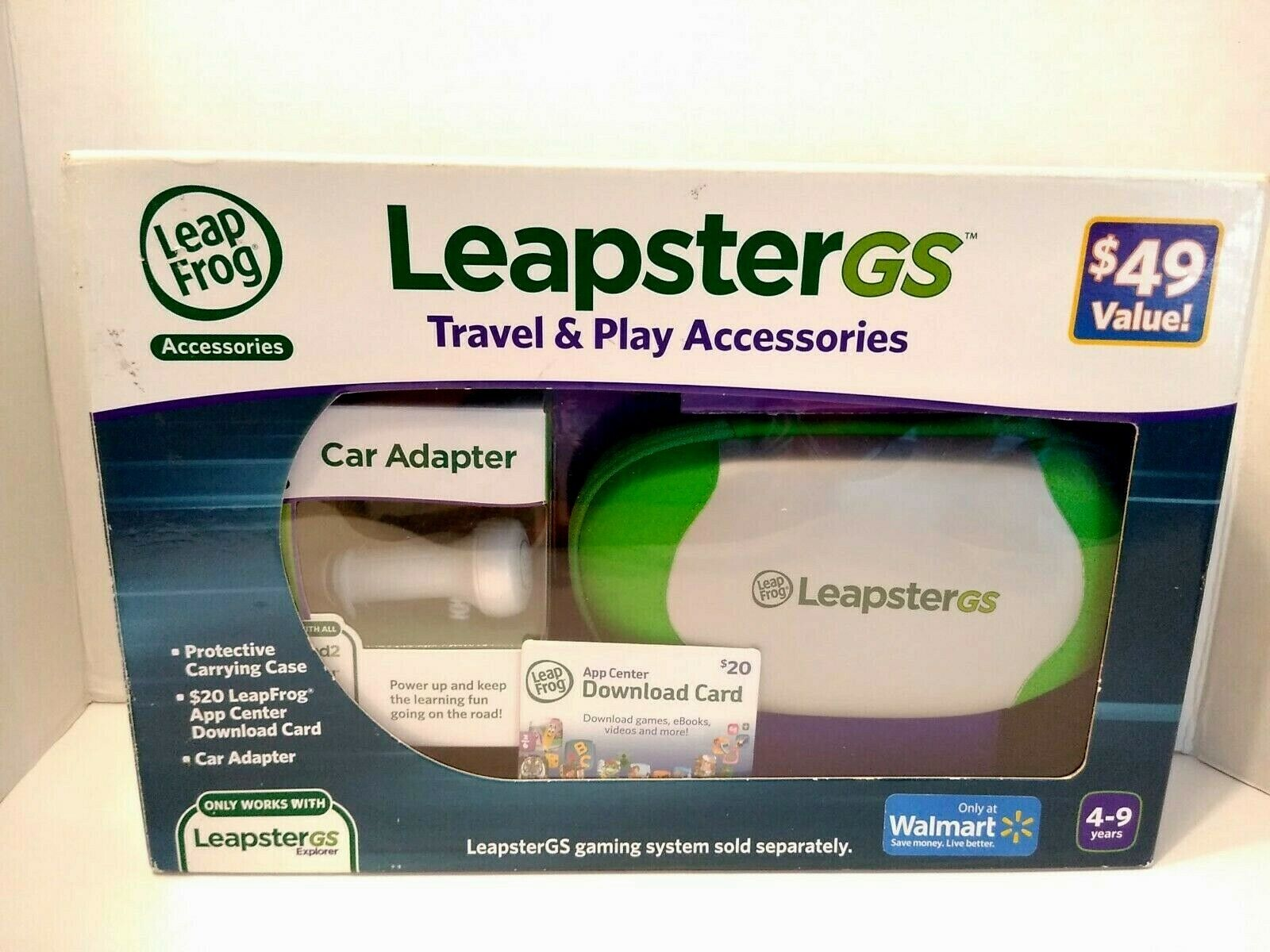 Leap Frog Leapster GS Travel and Play Accessories Plus Download Card Sealed