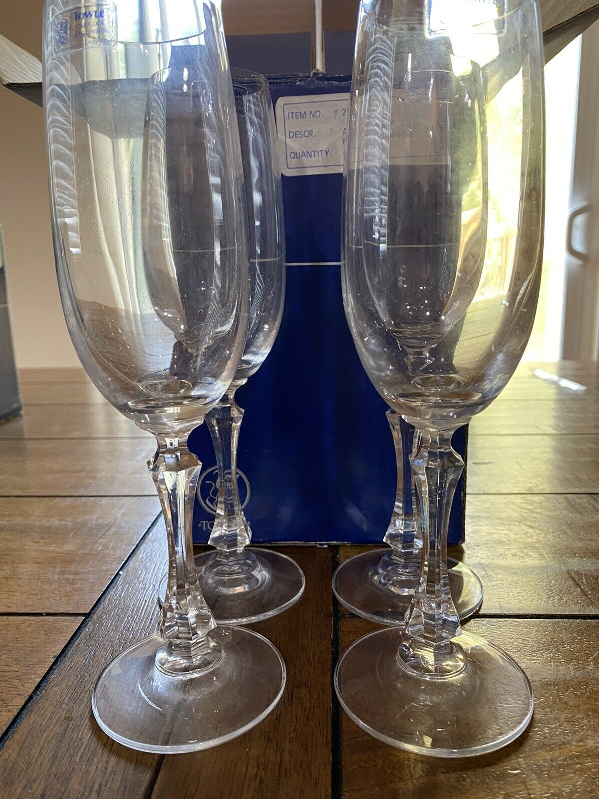 Lenox Sienna Champagne Flute Set Of 4 Lead Crystal Glasses Wine Bar Wow For Sale Online Ebay