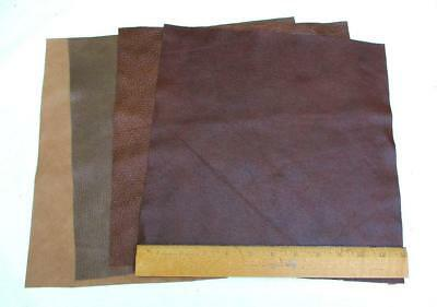 Scrap Upholstery Leather Mixed Large Pieces Light Weight 12 Square Feet