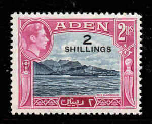 1951 Kgvi New Currency Hinged Mint Aden Aden (until 1967)