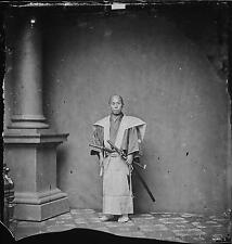 Samurai Warrior 1865 Japan Sword Japanese 5x5 Inch Reprint Photo