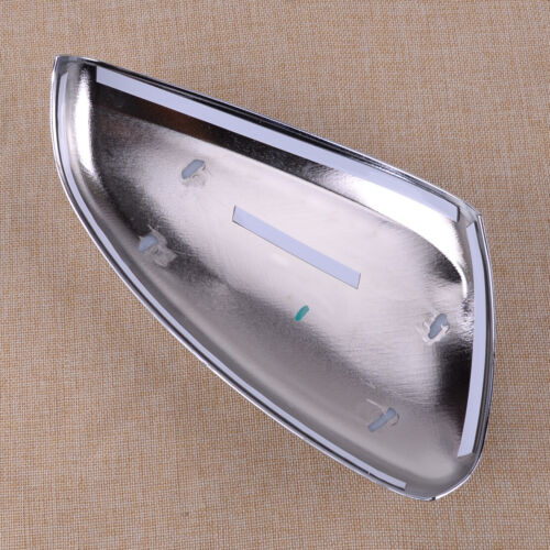 2pcs ABS Chrome Side Rearview Mirror Cover Caps Trim Fit For Peugeot