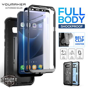 best website b3a49 1077c Details about YOUMAKER® Samsung Galaxy S8 / S8 Plus HEAVY DUTY Shockproof  KickStand Case Cover