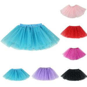d118b3288 Cute Kids Girls 3 Layers Princess Tulle Tutu Skirt Ballet Dancewear ...