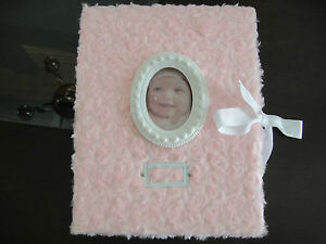 NEW-Baby-Girl-Pink-Roses-Princess-Memory-Keepsake-Book-with-photo-frame-and-tie