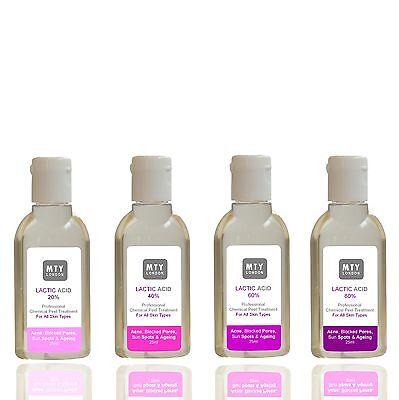 Lactic Acid Peel AHA 20% 40% 60% 80% Acne, Ageing, Pigmentation. London