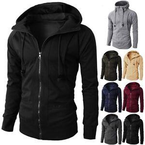 Men-Winter-Slim-Hoodie-Warm-Hooded-Sweatshirt-Coat-Jacket-Zip-Up-Outwear-Sweater