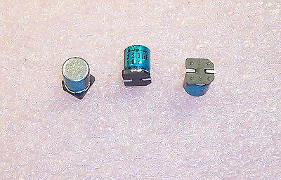 QTY 220uf 10V 105/'  SMD ALUMINUM ELECTROLYTIC 10SKV220ME7 RUBYCON 20