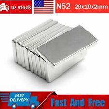 152050x N52 Neodymium Block Magnet 20x10x2mm Super Strong Rare Earth Magnets