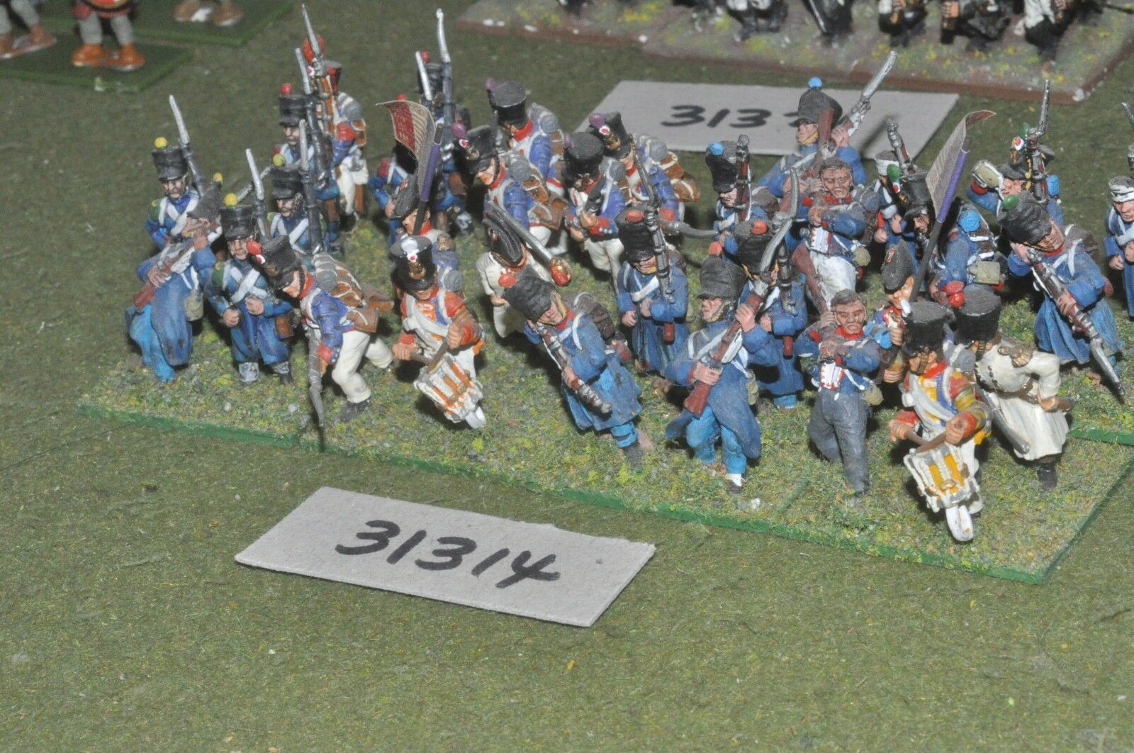 25mm napoleonic   french - line 32 figures - inf (31314)